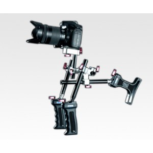 DSLR Shoulder Rig Sniper 1.4 w/ 15mm rod and Two Handles - (MXMW14)