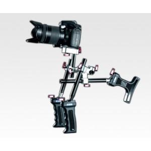 DSLR Shoulder Rig Sniper 1.4 w/ 15mm rod and Two Handles - (MXMW14)